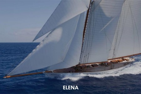 The Classic Schooner ELENA available for charter for the Antigua Classic Yacht Regatta 16th to 21st April 2015