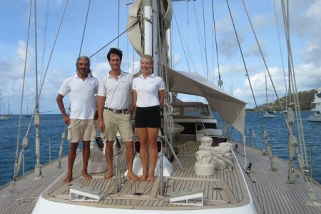 "The 100ft ketch JUPITER is available for ""mothership"" charters for Antigua Classic Yacht Regatta and Antigua Sailing Week"