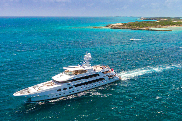 m/y Remember When 162ft Christensen – summer in the Bahamas. Eight nights for the price of seven offer.
