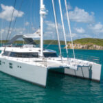 catamaran Che at anchor