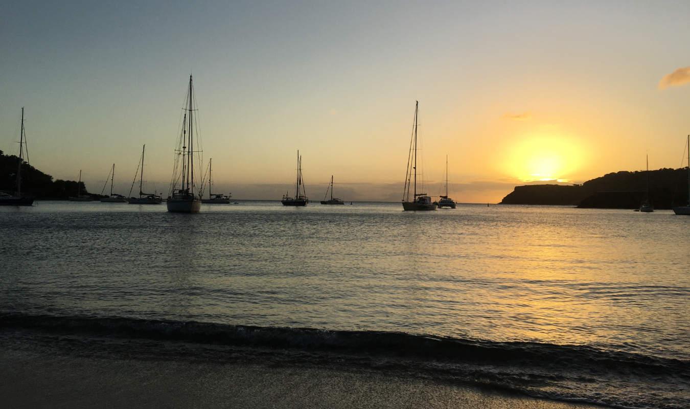 English Harbour Antigua sunset